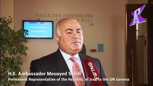 السيد الممثل الدائم، السفير مؤيد صالح، يجري لقاء تلفزيوني مع وكالة أنباء (PAX PRESS AGENCY) وقناة (EWTN) الاخبارية